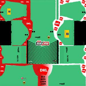 AEK F.C 2019-2020 Dls/Fts Kits and Logo GK Away - Dream League Soccer