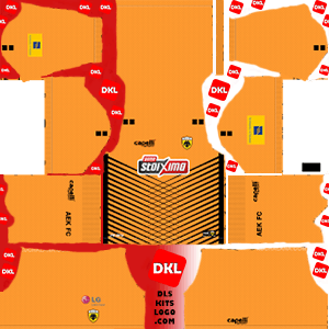 AEK F.C 2019-2020 Dls/Fts Kits and Logo GK Home - Dream League Soccer