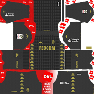 AS Monaco FC 2019-2020 Dls/Fts Kits and Logo Away - Dream League Soccer