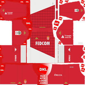 AS Monaco FC 2019-2020 Dls/Fts Kits and Logo Home - Dream League Soccer