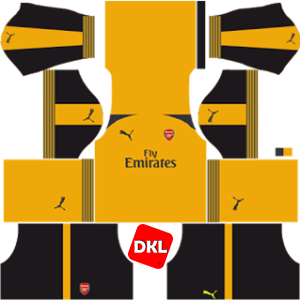 Arsenal Dls/Fts Kits and Logo Away- 2016-2017 Dream League Soccer