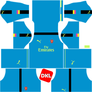 Arsenal Dls/Fts Kits and Logo GK Away - 2016-2017 Dream League Soccer