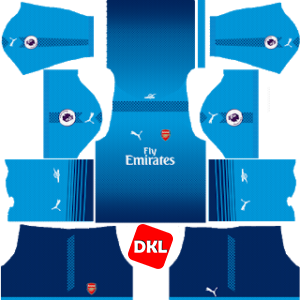 Arsenal Dls/Fts Kits and Logo Away- 2017-2018 Dream League Soccer
