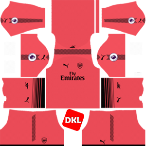 Arsenal Dls/Fts Kits and Logo GK Away - 2017-2018 Dream League Soccer