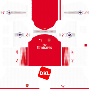 Arsenal Dls/Fts Kits and Logo Home - 2017-2018 Dream League Soccer