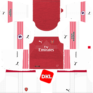 Arsenal F.C Dls/Fts Kits and Logo Home - 2018-2019 Dream League Soccer
