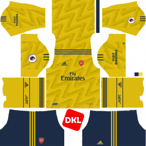 Arsenal Dls/Fts Kits and Logo Away- 2019-2020 Dream League Soccer