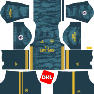 Arsenal Dls/Fts Kits and Logo GK Home - 2019-2020 Dream League Soccer