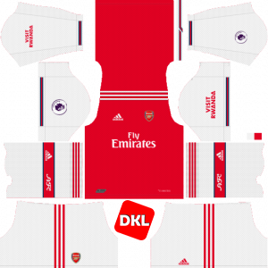 Arsenal Dls/Fts Kits and Logo Home - 2019-2020 Dream League Soccer