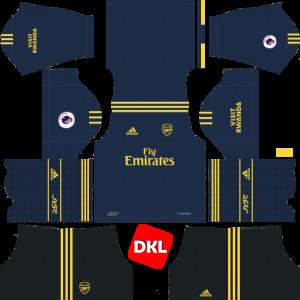 Arsenal Dls/Fts Kits and Logo Third - 2019-2020 Dream League Soccer