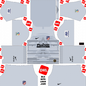 Atletico Madrid 2019-2020 Dls/Fts Kits and Logo GK Home - Dream League Soccer