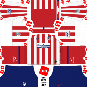 Atletico Madrid 2019-2020 Dls/Fts Kits and Logo Home - Dream League Soccer