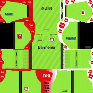 Bayer Leverkusen 2019-20 Dls/Fts Kits and Logo GK Home - Dream League Soccer