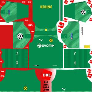 Borussia Dortmund-dls-logo-kits-2019-2020-gk-home-ucl