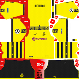 Borussia Dortmund-dls-logo-kits-2019-2020-home-ucl