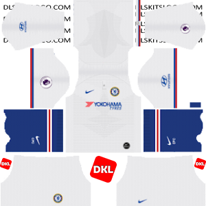 Chelsea Dls/Dream League Soccer Kits and Logo Away- 2019-2020 Dream League Soccer
