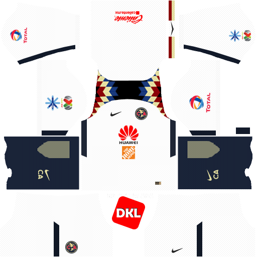 Club America 512x512 2017-2018 Dls/Fts Kits and Logo Away- Dream League Soccer