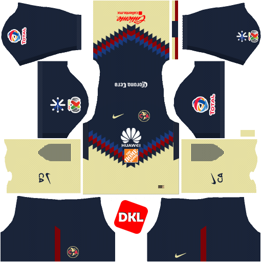 Club America 512x512 2017-2018 Dls/Fts Kits and Logo Home - Dream League Soccer