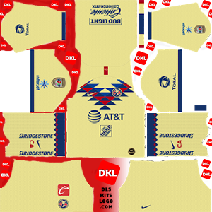 Club America 2019-2020 Dls/Fts Kits and Logo Home - Dream League Soccer