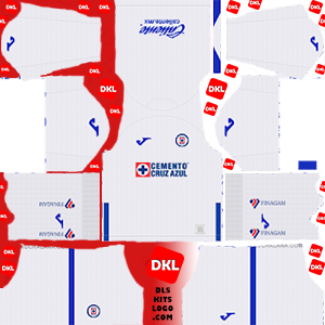 Cruz Azul 2019-2020 Dls/Fts Kits and Logo Away - Dream League Soccer