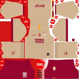 Galatasaray 2019-2020 DLS Forma Kits Logo deplasman2- Dream League Soccer
