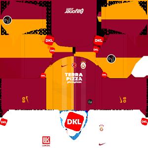 Galatasaray 2019-2020 DLS Formalar/Logo Ev sahibi 2 - Dream League Soccer