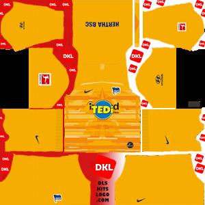 Hertha BSC 2019-20 Dls/Fts Kits and Logo GK Home - Dream League Soccer