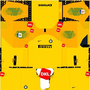 Inter Milan Dls/Dream League Soccer Kits and Logo GK Away - 2018-2019 Dream League Soccer
