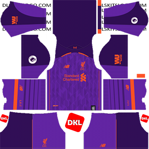 Liverpool F.C Dls/Dream League Soccer Kits and Logo Away - 2018-2019 Dream League Soccer