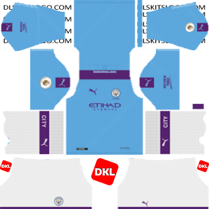 Manchester City Dls/Dream League Soccer Kits and Logo Home - 2019-2020 Dream League Soccer