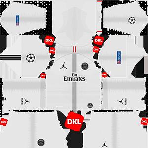 Paris Saint-Germain(PSG) 2018-2019 Dls/ Kits and Logo Away- Dream League Soccer