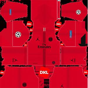 Paris Saint-Germain(PSG) 2018-2019 Dls Kits and Logo GK Away - Dream League Soccer