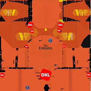 Paris Saint-Germain(PSG) 2018-2019 Dls/Dream League Soccer Kits and Logo GK Home - Dream League Soccer