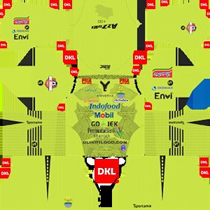 Persib Bandung 2019-2020 Dls/Fts Kits and Logo GK Home - Dream League Soccer