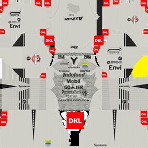 Persib Bandung 2019-2020 Dls/Fts Kits and Logo GK Third - Dream League Soccer