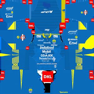 Persib Bandung 2019-2020 Dls/Fts Kits and Logo Home - Dream League Soccer