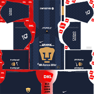 Pumas UNAM 2019-2020 Dls/Fts Kits and Logo Away - Dream League Soccer