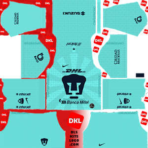 Pumas UNAM 2019-2020 Dls/Fts Kits and Logo GK Away - Dream League Soccer