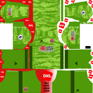 Sheffield United FC 2019-20 Dls/Fts Kits and Logo GK  Away - Dream League Soccer