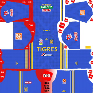 Tigres UANL 2019-2020 Dls/Fts Kits and Logo Away - Dream League Soccer
