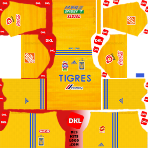 Tigres UANL 2019-2020 Dls/Fts Kits and Logo Home - Dream League Soccer