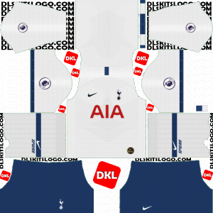 Tottenham Hotspur 2019-2020 Dls/Fts Kits and Logo Home - Dream League Soccer