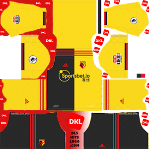 Watford F.C. 2019-2020 DLS/FTS Kits and Logo