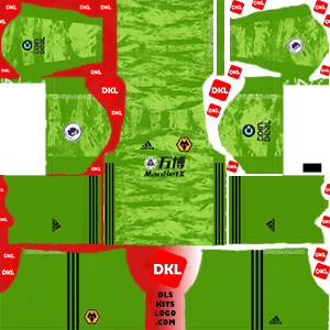 Wolverhampton Wanderers FC  2019-20 Dls/Fts Kits and Logo GK Away - Dream League Soccer