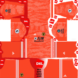 Wolverhampton Wanderers FC  2019-20 Dls/Fts Kits and Logo GK Home - Dream League Soccer
