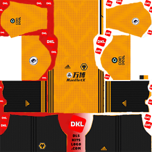 Wolverhampton Wanderers FC  2019-20 Dls/Fts Kits and Logo Home - Dream League Soccer