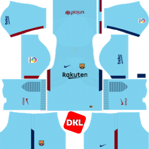 F.C. Barcelona Dls/Fts Kits and Logo Away- 2017-2018 Dream League Soccer