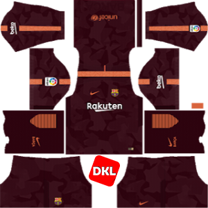 F.C. Barcelona Dls/Fts Kits and Logo Third - 2017-2018 Dream League Soccer