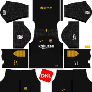 F.C. Barcelona Dls/Fts Kits and Logo GK Away - 2017-2018 Dream League Soccer