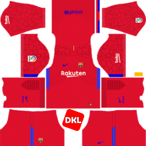 F.C. Barcelona Dls/Fts Kits and Logo GK Home - 2017-2018 Dream League Soccer